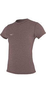 O'Neill Womens Hybrid Short Sleeve Surf Tee PEPPER 4675